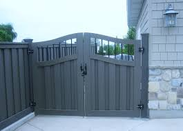Fancy Double Arched Gate I Like It Fence Design Vinyl Fence Metal Fence Gates
