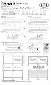 Snapfence Sk 3x8l 3 Ft X 8 Ft White Vinyl Fence Starter Kit With Lattice Instructions Assembly Manualzz