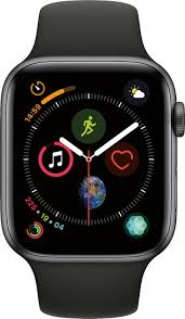 Best Buy: Apple Watch Series 4 (GPS) 44mm Space Gray Aluminum Case with  Black Sport Band Space Gray Aluminum MU6D2LL/A