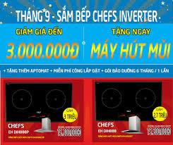 Tháng 9 này, mua ngay bếp từ Chefs EH DIH888 giảm đến 3 triệu - vietloc's  diary