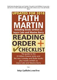 Faith martin reading order and checklist the guide to the di hillary…