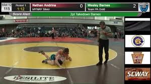 Wesley Barnes (Team PA Gold) vs Brody Evans (Team PA Silver)