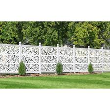 Design Vu 2 Ft X 4 Ft White Petals Decorative Privacy And Fence Panel Dvu24 01wh The Home Depot