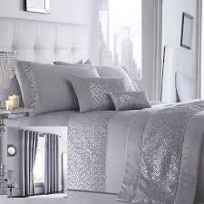 shimmer bedding range silver choice of