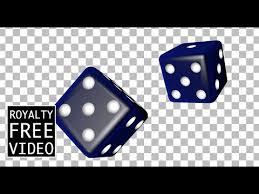 3d dice spinning royalty free video