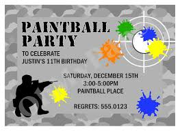 Free Paintball Party Invitation Template Diseno De Invitacion