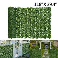 Lvydec Artificial Ivy Privacy Fence Screen 157 X 59 Artificial Hedges Fence And Faux Ivy Vine Leaf Decoration For Outdoor Garden Porch Patio Outdoor Decor Patio Lawn Garden