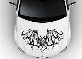 Amazon Com Hood Auto Car Vinyl Decal Stickers Animal Bat Tribal 7509 Home Kitchen