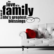 The Love Of A Family Quote Wall Sticker Decal World Of Wall Stickers