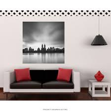New York Themed Wall Decal Mets City Yankees Design Skyline Sticker Silhouette Vamosrayos