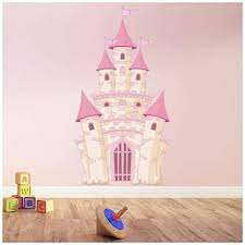 Amazon Com Azutura Pink Princess Castle Wall Sticker Fairytale Wall Decal Girls Bedroom Home Decor Available In 8 Sizes X Small Digital Kitchen Dining