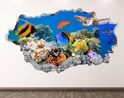 Ocean Wall Decal Etsy