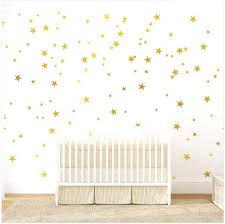 com gold stars wall decal 130