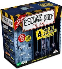 Amazon Com Escape Room The Game Version 2 With 4 Thrilling Escape Rooms Solve The Mystery Board Game For Adults And Teens Toys Games
