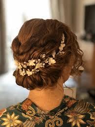 naturally curly hair wedding hair