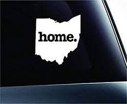 Amazon Com Home Ohio State Symbol Decal Funny Car Truck Sticker Window White Decal Sticker Vinyl Car Home Truck Window Laptop Automotive