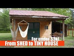 shed into a tiny house airbnb al