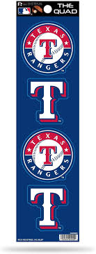 Texas Rangers Mlb Baseball Flag Car Bumper Sticker Decal 3 Or 5