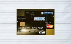 hdfc regalia credit card first