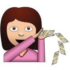 money emoji   Coming up Roses