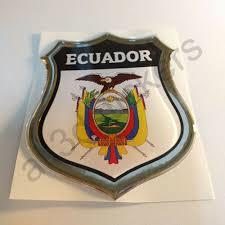 Auto Parts And Vehicles Sticker Ecuador Emblem Coat Of Arms Shield 3d Resin Domed Gel Vinyl Decal Car Car Truck Graphics Decals