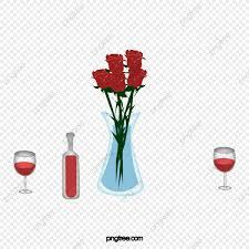 وردة حمراء زهرية زهرة النبيذ الاحمر أحمر الوردة مزهرية Png وملف