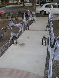Quick Easy Haunted Stanchions Solved My Need For A Lot Of Fencing Halloween Diy Outdoor Outdoor Halloween Parties Halloween Outdoor Decorations