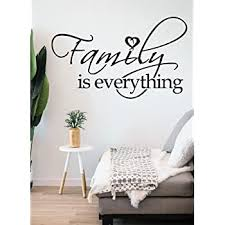 Amazon Com Yoyojoy Family Is Everything Wall Decals Quote Home Decor Art Quote Decals Wall Art Stickers Decal Black Home Kitchen