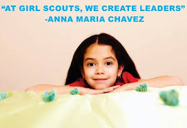 Girl Scouts At Girl Scouts We Create Leaders Anna Maria Chavez Quote Custom Wall Decal Vinyl Sticker 10 Inches X 40 Inches Walmart Com