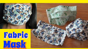How to sew a simple Fabric Face Mask ...