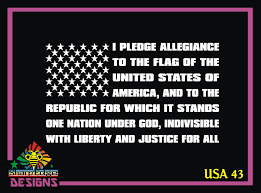 American Flag United I Stand Decal Window Pledge Of Allegiance Usa Stickers Auto Parts And Vehicles Car Truck Graphics Decals Magenta Cl