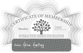 Adrian Armstrong: Certificate of Membership   Interaction Design Foundation
