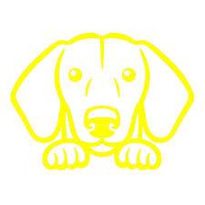 Dachshund Dog Peeking V1 Single Color Transfer Type Decal Stickerdad Shirtmama