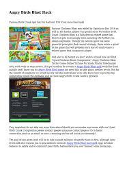 Angry Birds Blast Hack... by christensenfdmwtslfnz - issuu