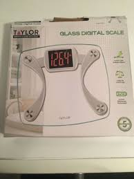 glass digital scale clear 440 lb max