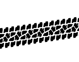 4x4 Tire Track Decal By The Foot Etsy