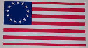 Betsy Ross 1776 American Flag Full Color Graphic Window Decal Stick