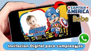 Invitacion Digital Bebe Capitan America Cumpleanos Youtube