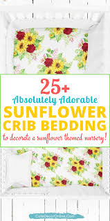 sunflower baby bedding sets