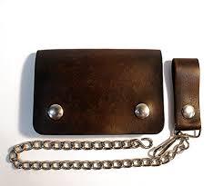 com short leather biker wallet