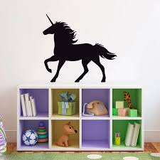 Unicorn Wall Decal Girl Bedroom Decor Fairy Tale Wall Art Children Wall Stickers Self Adhesive Lovely Poster For Girls A329 Wall Stickers Aliexpress