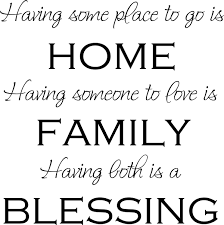 Home Family Blessing Vinyl Decal Wall Stickers Letters Words Home Decor