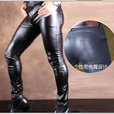 y men skin tight leather pants with