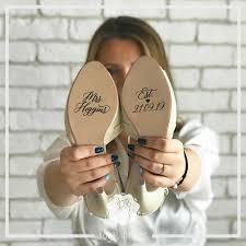 Custom Wedding Shoes Decal Name And Date Wedding Sticker Wedding Decal Bridal Shoes Decals Mrs Name Est Date 2904739 Weddbook