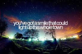 smile light up quote picture
