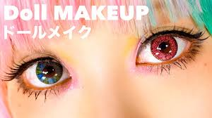 kawaii big eyes doll makeup tutorial