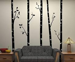 5 Large Birch Trees With Branches Wall Stickers For Kids Room Removable Vinyl Wall Art Baby Nursery Wall Decals Quotes D641b Cj191213 Decorative Wall Stickers Decorative Wall Stickers For Kids Rooms From