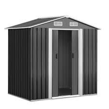 grey giantz steel garden shed