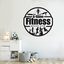 Home Garden Gym Sticker Motivation Gym Wall Sticker Crossfit Workout Vinyl Decal Fitness Hot Agenturamatlovicova Sk