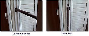 wedgit sliding glass door lock how to